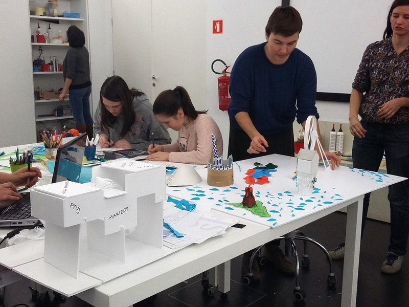 Architectures and Places workshop, +MSUM, 24 November 2018 | © Photo: Dana Terezić / Moderna galerija, Ljubljana